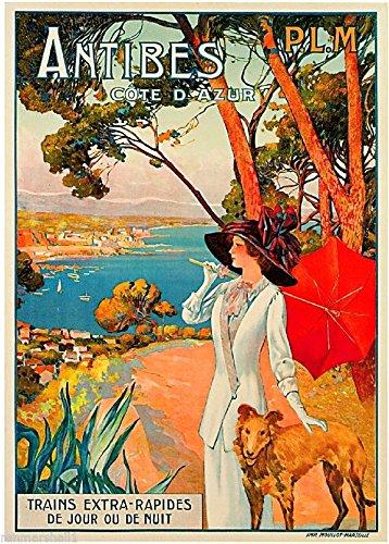 (MAGNET 1910 Antibes France French Côte d'Azur Art Travel Advertisement Magnet Print)