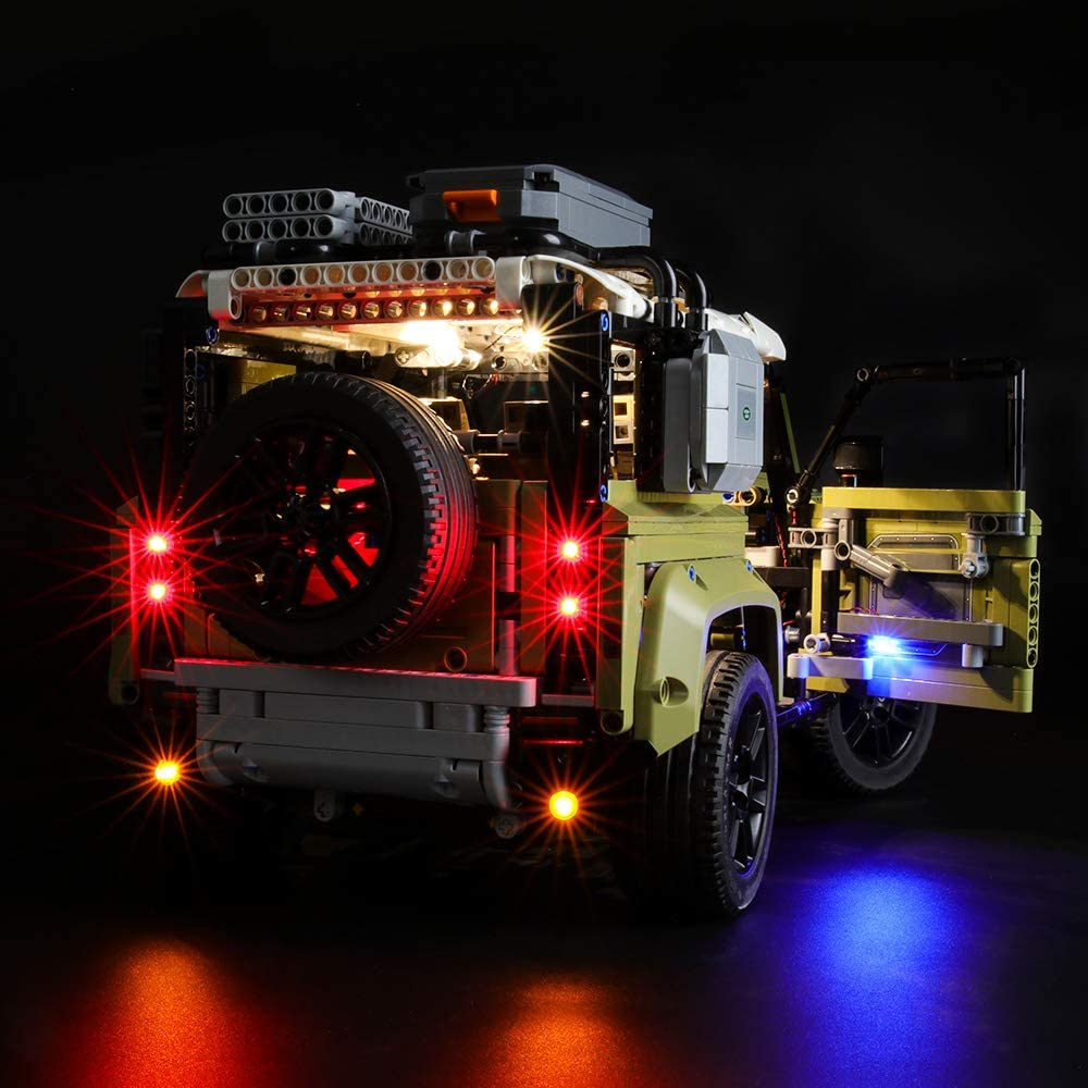 Compatible with Lego 42110 Building Blocks Model BRIKSMAX Led Lighting Kit for Land Rover Defender Not Include The Lego Set