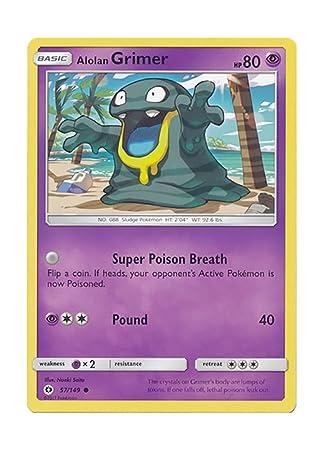 Pokemon Single Card Sun And Moon Base Set 57149 Alolan Grimer