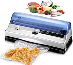 Vacuum Sealer, Automatic Vacuum Sealing System for Food Saving, Automatic Food Sealer Machine Food Saver for Dry And Moist Fooddry & Moist Food Mode