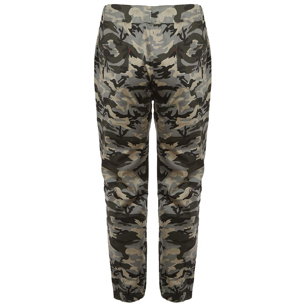 XWBO Mens Slim Fit Trousers Jogger Cargo Casual Sportwear Camouflage Jogging Pants