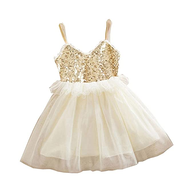 c93879dae Kids Toddler Baby Girls Lace Tulle Sequins Princess Party Fancy Dresses (90cm/1-