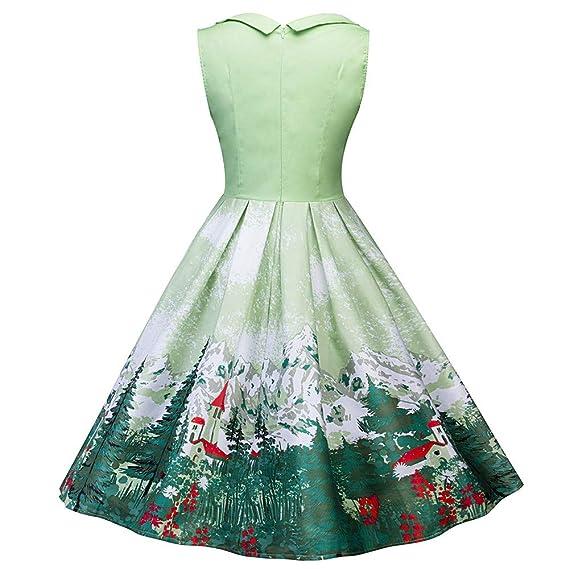 BBestseller-Vestidos Corto Mujer Retro Años 50 Vintage Escote Elegante Mini Dress Falda De Fiesta Mujer Navidad Ropa Mujer: Amazon.es: Ropa y accesorios