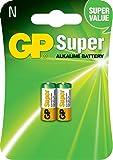 GP Batteries GP11LR01 - Pila alcalina N, pack de 2 unidades (LR01)