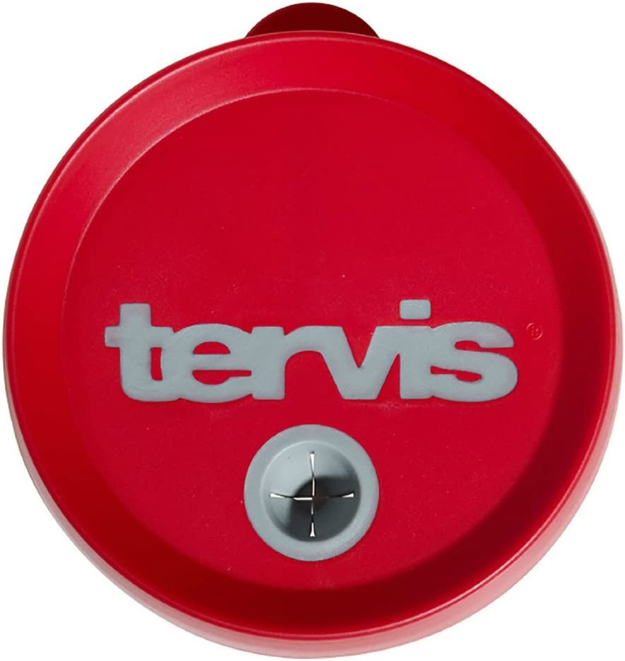 Tervis Tumbler Replacement Straw Lid Black with Gray 24 oz
