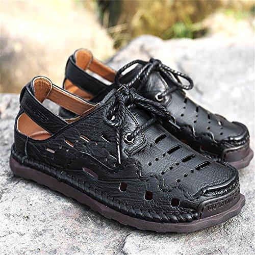 CM Sport Aperta Uomo pantofole Neri 0 spiaggia Da 24 0 Traspiranti Sandalo da Marrone Sandali Wagsiyi Antiscivolo Scarpe All'aria 27 Scarpe Spiaggia WTBfqBwn