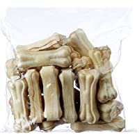 Petlicious & More Rawhide Bones for Dogs 4 Inch 1/2 Kg Pack Pressed Bones for Dogs Calcium Bone Dog Bones Chew Bones for Puppy Calcium Treat for Dogs Puppy Treat (Pack of 1/2 Kgs)