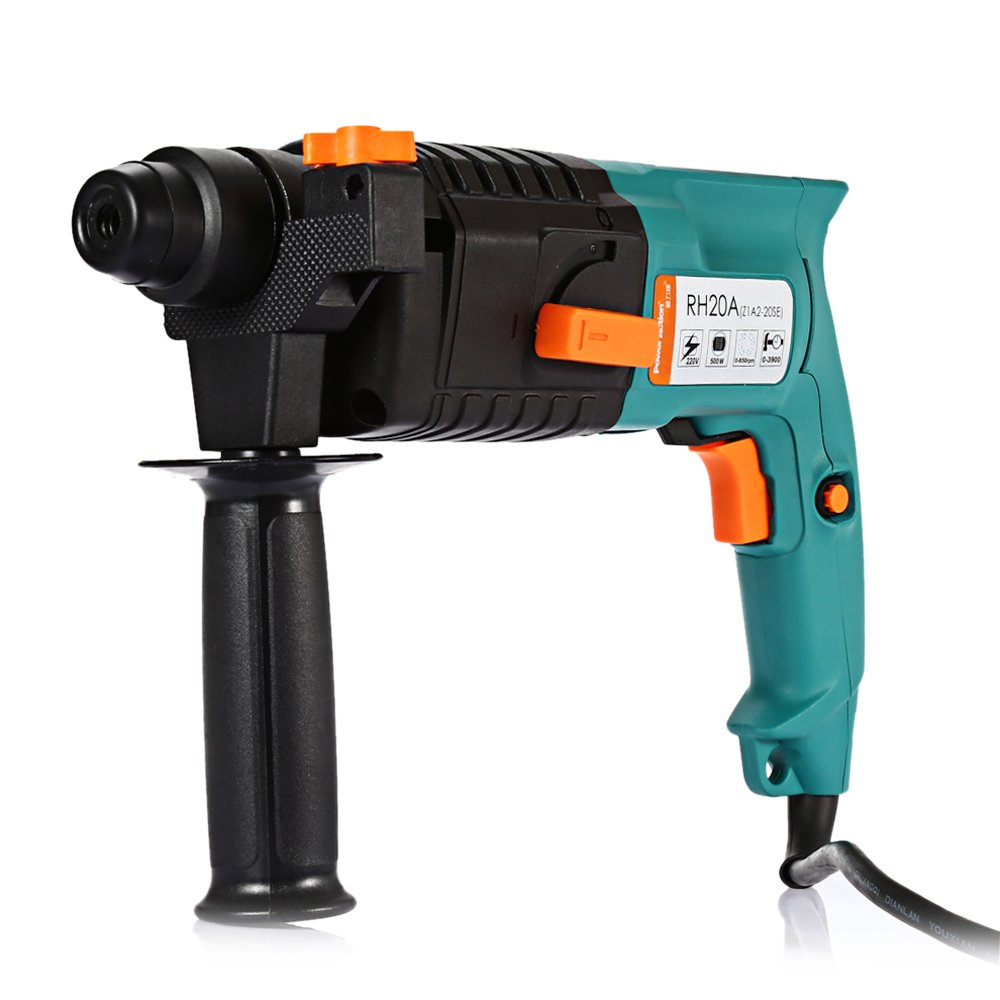 Portable 500W Electric Rotary Hammer Drill with SDS-plus