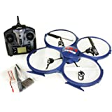Tenergy UDI UPDATED Discovery U818A-1 2.4Ghz 4CH 6 Axis Gyro RC Quadcopter w/ HD Video Camera w/ Extra Battery