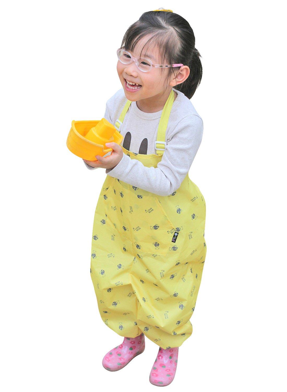 Plie Unisex Baby Children Waterproof Jumpsuit Overalls Art Smock 10-M Black Greenstar