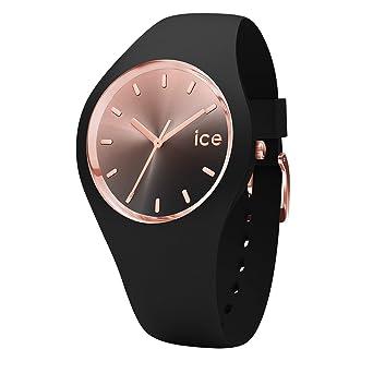 118e13a0e2267 Ice-Watch - Ice Sunset Black - Montre Noire pour Femme avec Bracelet en  Silicone