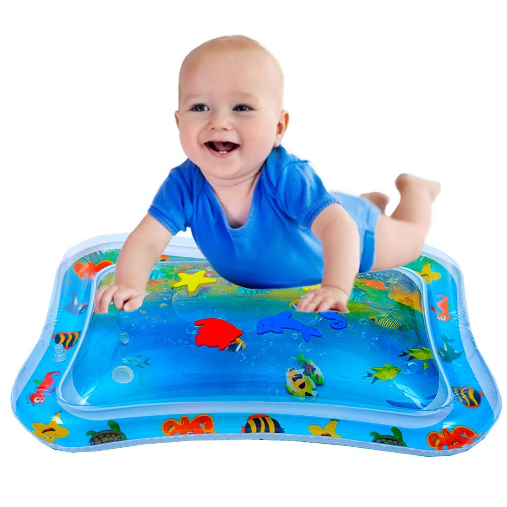 Inflatable Tummy Time Mat Water Play Mat for Infants /& Toddlers Fun Play Activity Baby Playmats Leakproof Water Mat Toy for Babys Stimulation Growth BPA Free Water Filled Playmat Baby Boy Girl