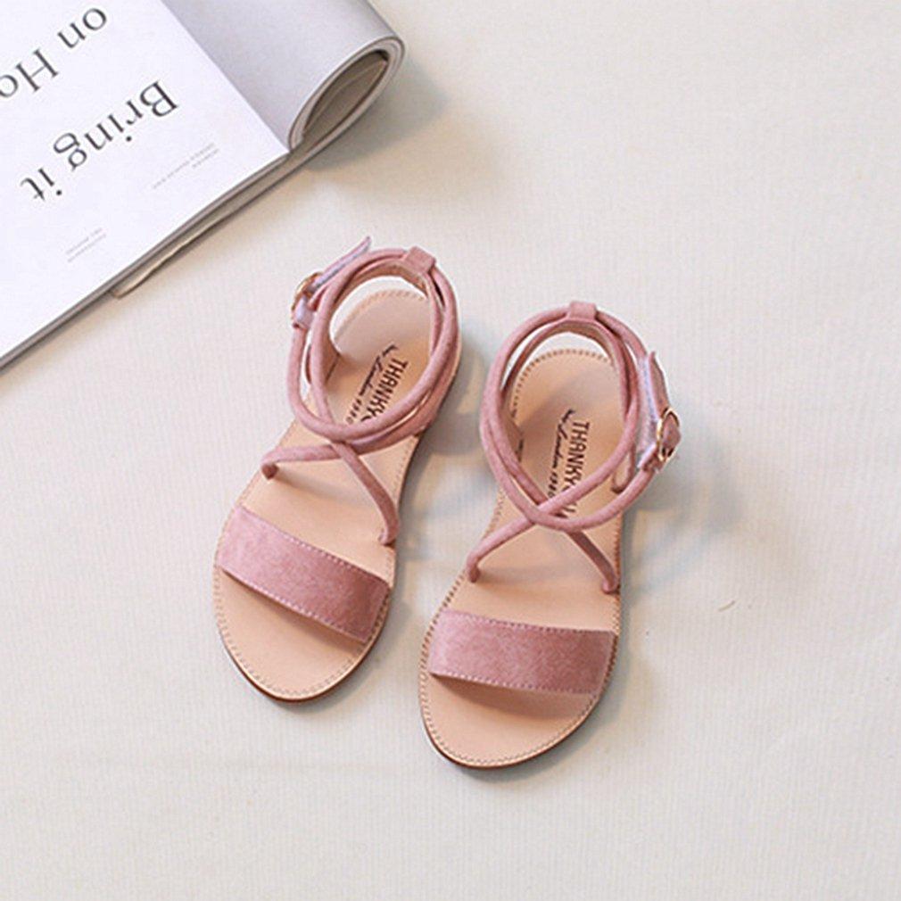 Toddler//Little Kid CYBLING Toddler Girls Open Toe Strap Sandals Summer Fashion Flat Princess Shoes