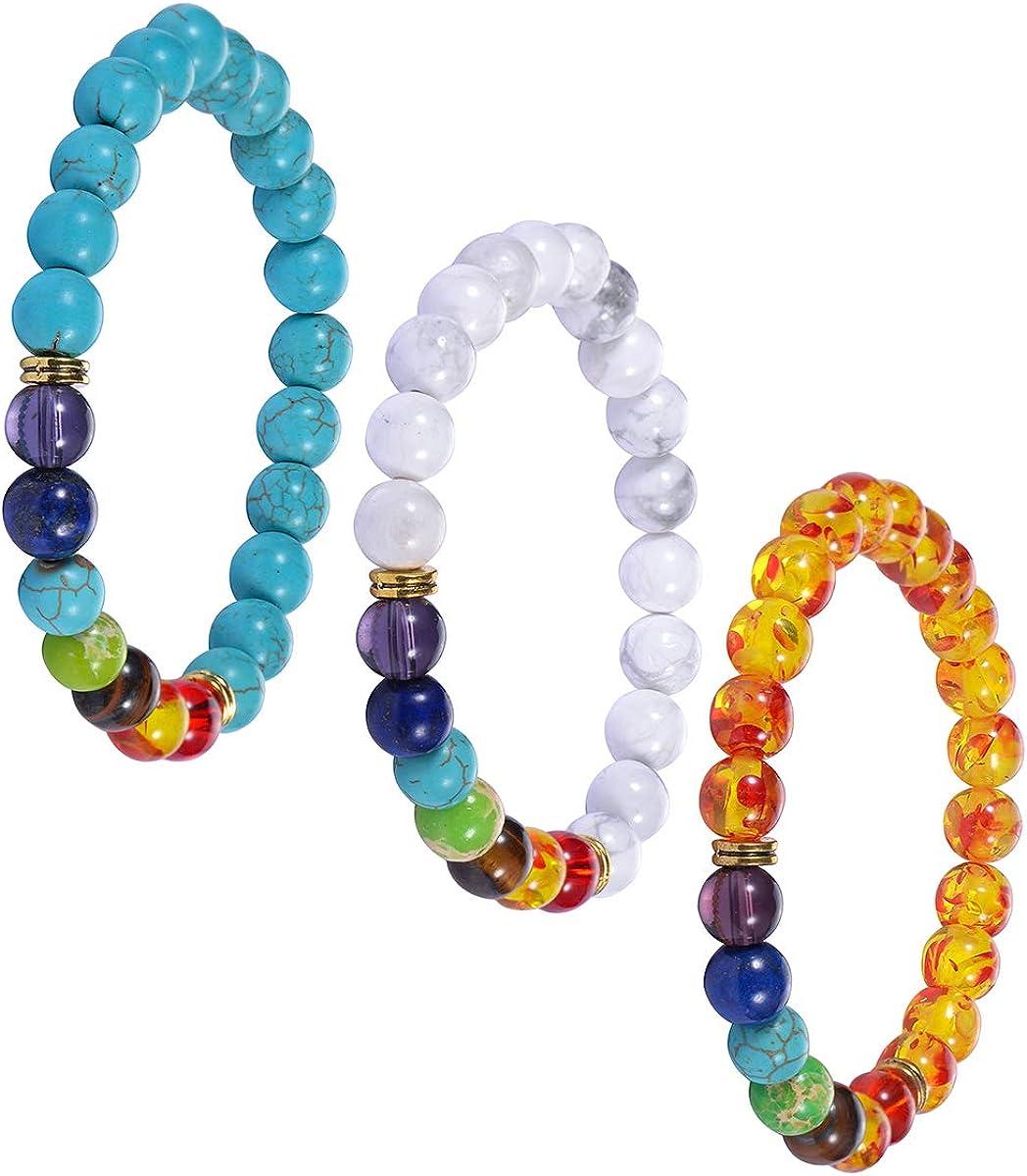 HooAMI Bracelet Homme Femme Bouddha Bracelet Bouddhiste Perle Pierre Naturelle dEnergie Protection Elastique 1pcs//2pcs//3pcs//4pcs