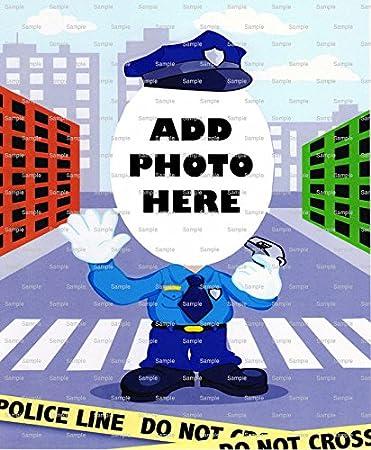 1/4 Sheet - Police Officer Birthday - Cake Photo Frame - Edible Cake ...