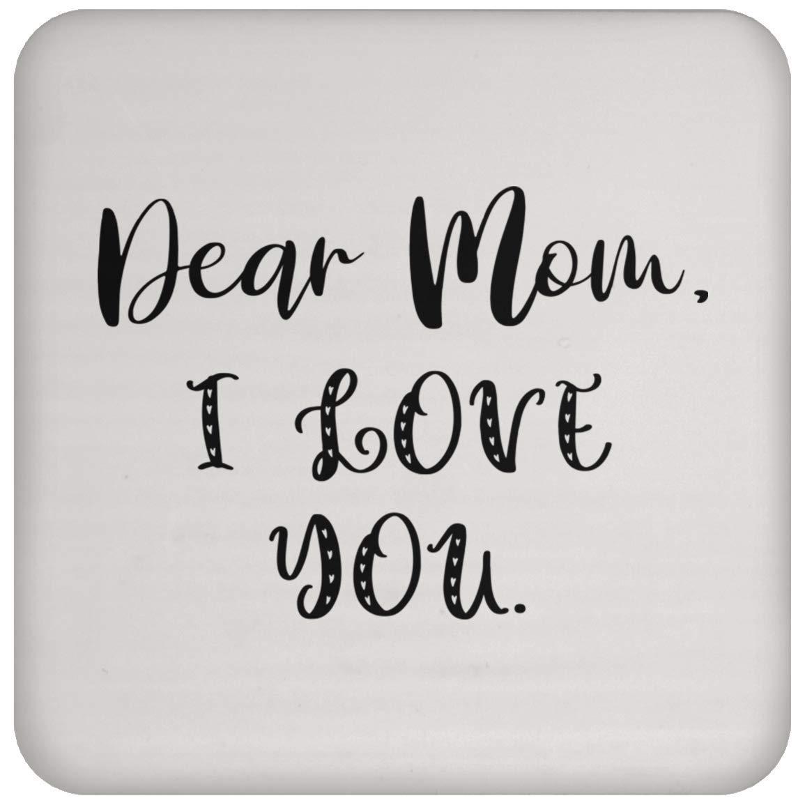 Dear Mom コースター - コーヒー ティー ドリンク - 面白い ノベルティ ギフト アイデア - 101191   B07P33KDGN
