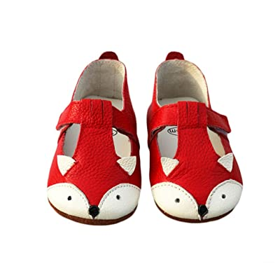 FYGOOD Baby Soft Sole Leather Toddler Prewalker Shoes for Summer Fox red XL:18-24months/inner Length:14cm : Baby