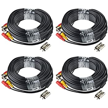 Amazon masione 4 pack 100ft bnc video power cable security ablegrid 4 pack 100ft bnc video power cable security camera wire cord for cctv dvr surveillance system included 2x bnc to rca connectors with each cable publicscrutiny Image collections
