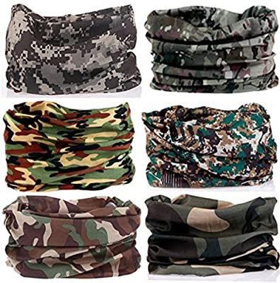 KALILY 6PCS/9PCS Headband Bandana - Versatile 16-in-1 Sports & Casual Headwear -Neck Gaiter, Balaclava, Helmet Liner, Face Mask for ATV/UTV riding, Seamless Lightweight Headband with UV Protection