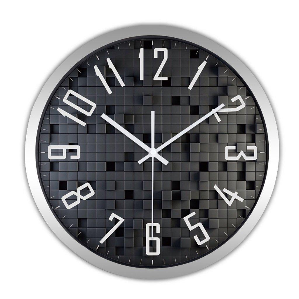 掛け時計 時計の壁時計リビングルームクリエイティブミニマリストモダン時計クォーツ時計ベッドルームミュートファッション時計の時計 Rollsnownow (色 : シルバー しるば゜, サイズ さいず : 12インチ) B07BMYVK1N 12インチ|シルバー しるば゜ シルバー しるば゜ 12インチ