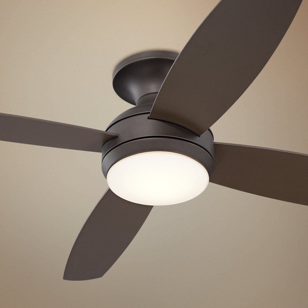52 casa elite oil rubbed bronze led hugger ceiling fan amazon aloadofball Choice Image