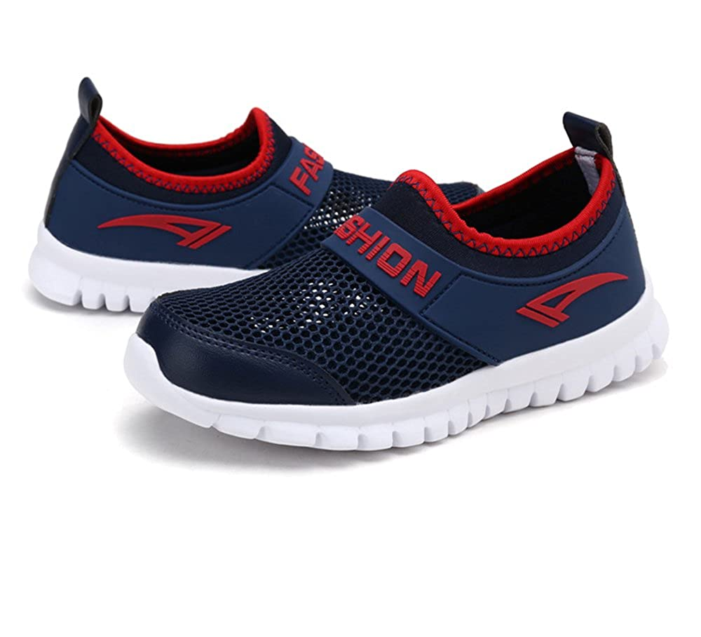 eleganceoo Boys Girls Breathable Mesh Shoes Lightweight Sneakers Antislip Water Shoes for Running Walking