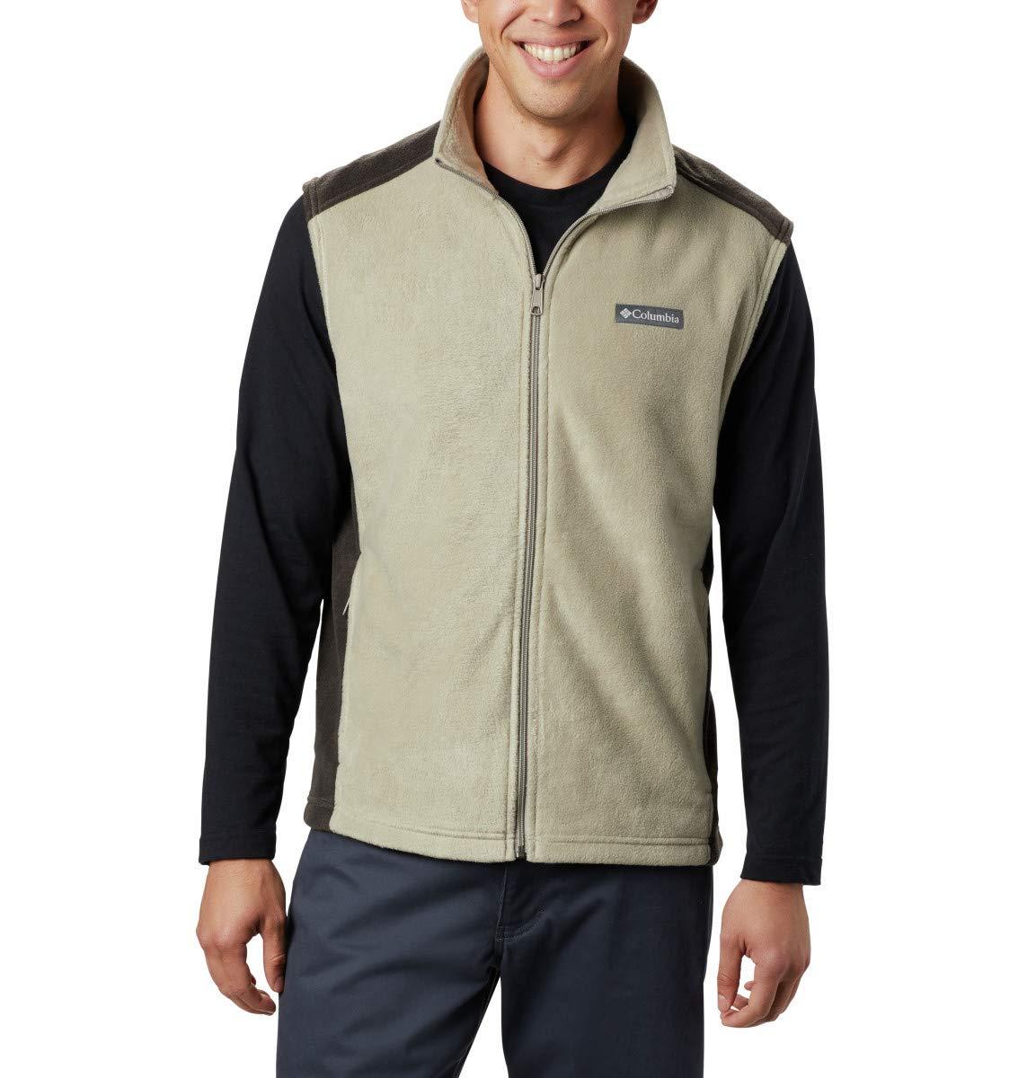 Columbia Men's Steens Mountain Full Zip Soft Fleece Vest, Tusk, Buffalo, 3X by Columbia