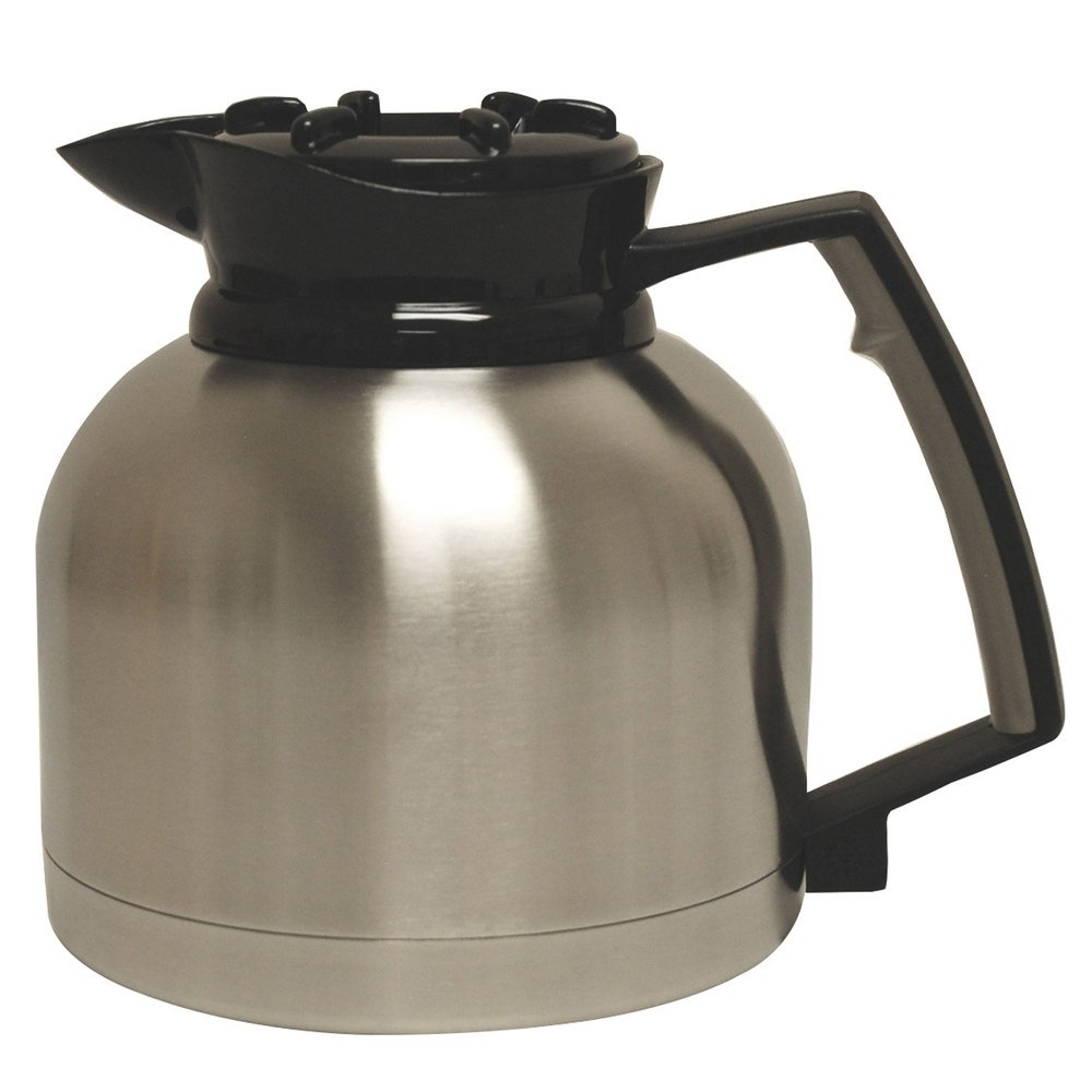 Grindmaster SS-1.9 LR 64 oz. Stainless Steel Thermal Carafe with Black Lid