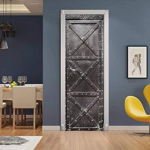 3DWallflexi Etiqueta de la Puerta - PVC Adhesivo Fotográfico Pegatina - Retro - Vinilos Decorativos para Puerta Pared Cocina Sala de Baño 77x200cm(30.3x78.7): Amazon.es: Hogar
