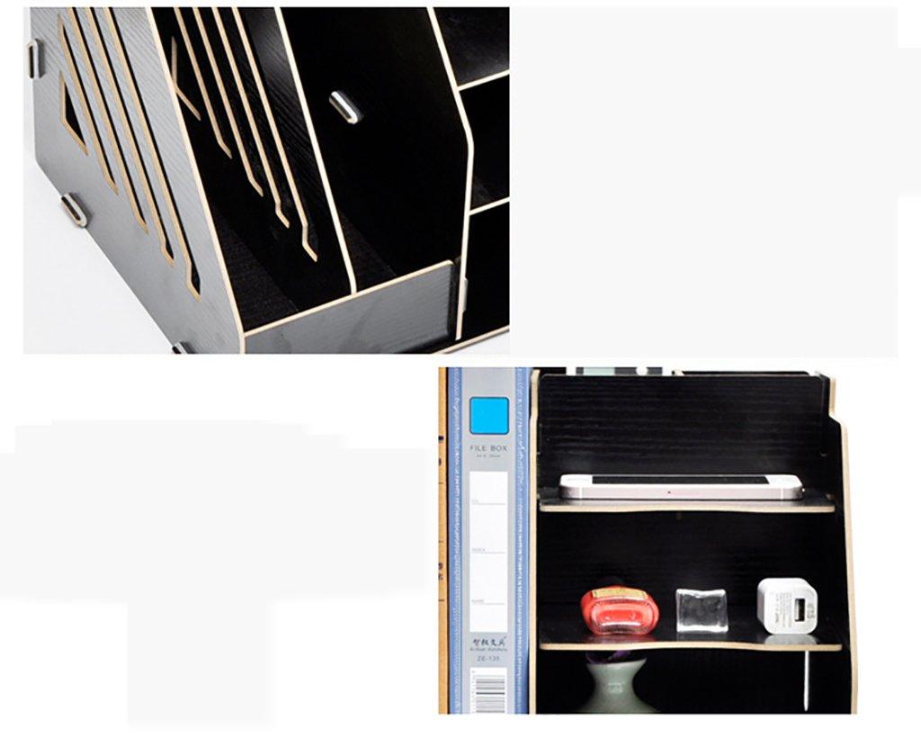 Estante de Documentos Multifuncional Tamaño 280  260 305  305 260 mm Archivador de Madera, gabinete de Almacenamiento de Recibos, Estante Categoría, Caja de Almacenamiento. (Color : B) 1655e9