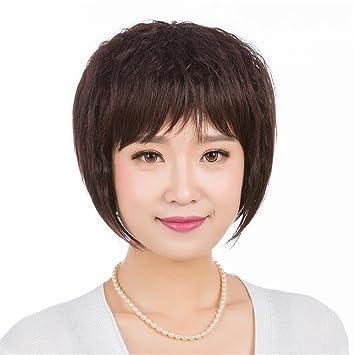 TT peluca verdadera moda peluca peluca de pelo corto realista