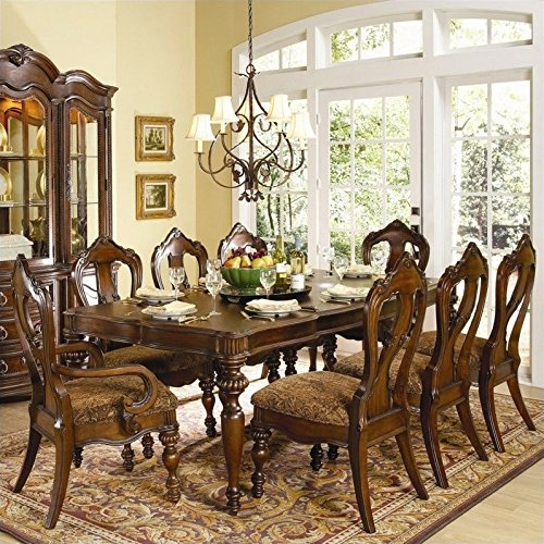 Superior Homelegance Prenzo Rectangular Dining Table In Warm Brown Finish