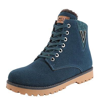 Homme desert boots hiver impermeable en PU chaussure chaud Vert 44 ... 92243595dd2e