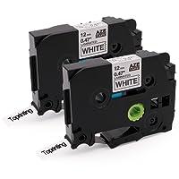 Toprinting 2 x Brother TZe-231 TZe231 Compatible Rubans Laminé Etiqueteuse Noir sur Blanc 12mm x 8m pour P-Touch 1000W 1010 1090 1830VP 2030VP 2100VP 2430PC 2470 2730VP 7100 VP7600VP H100R H300 D200VP Étiqueteuse