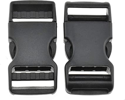 9 Piece Black Buckle Set-Replacement Spare Backpack Strap Band Belt