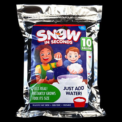 Snow in Seconds Instant Fake Snow XL Bag (Makes 10 gallons) by Snow in Seconds
