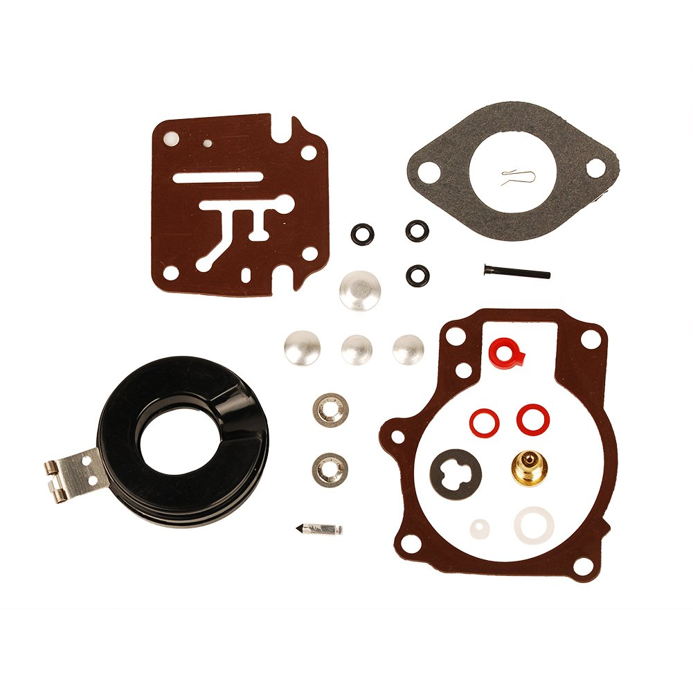 HIFROM Carburetor Carb Rebuild Repair Kit With Float Fits Many Johnson Evinrude 396701 18 20 25 28 30 35 40 45 48 50 55 60 65 70 75 HP Outboard Motors