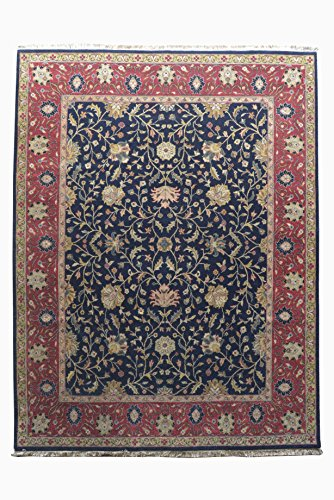 (Hand Knotted Nepali Carpet 8' X 10' Nepalese Handmade 8 Feet By 10 Feet Area Rug Wool 10 x 10 Knot Red Color)