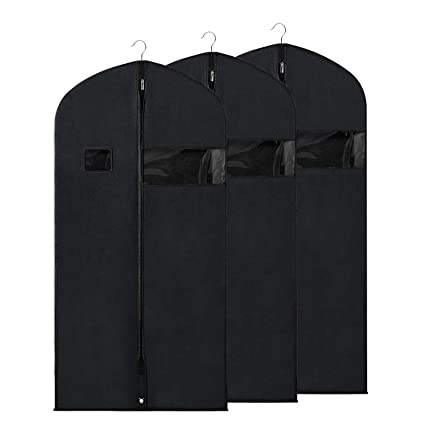 cba4c7ed8ba Zilink Garment Bags Suit Bags for Storage and Travel 54 inches Breathable  Dust-Proof Dress