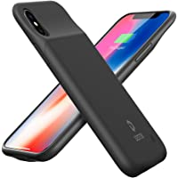 DESTEK (Upgraded) iPhone X Battery Case 3200mAh Slim Charging Case for iPhone X/iPhone 10 (5.8-inch) Protective Charger Case Extended Power Pack, Compatible with Lightning Headphones