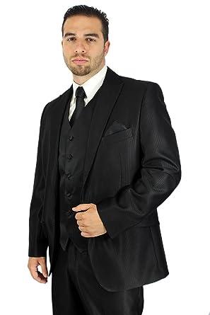 Enimay Men\'s Combo Pack 3pc Set Solid Vest Tie Hankerchief Prom ...