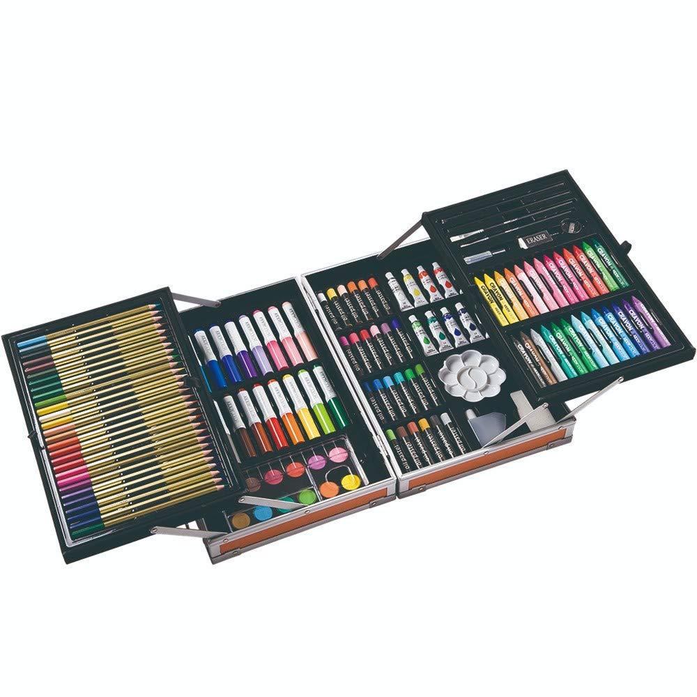 Art JKWL Set da Disegno per Bambini Come Regalo Forniture per Pittura Artistica Deluxe Custodia in Alluminio 133 pz