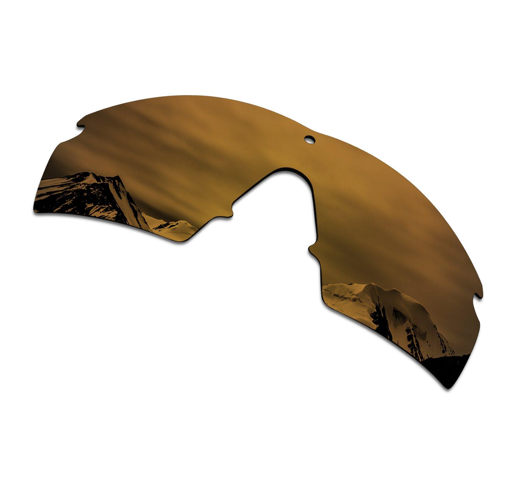 SmartVLT Men's Bronze Gold Replacement Lenses for Oakley Si M Frame 2.0 Sunglass