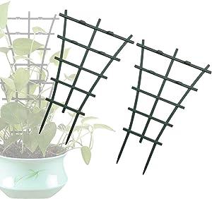 Garden Trellis for Mini Climbing Plants, Indoor Outdoor Potted Plant Support, Plastic Mini Stacking for Potted Climbing Plants Vines Support Garden Lattice