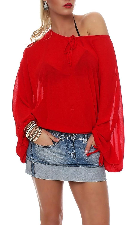 malito Túnica sin tirantes Clásico Blusa Parte Superior Top 4362 Mujer Talla Única (rojo): Amazon.es: Ropa y accesorios