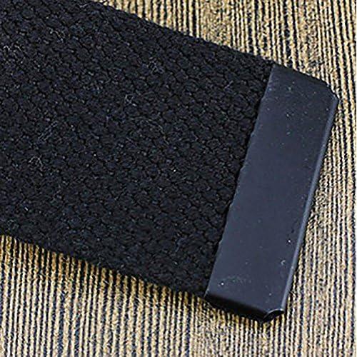meilleur site web 71667 ca72f Gespout Ceinture Homme Femme Tissu Noir Casual Sans métal ...