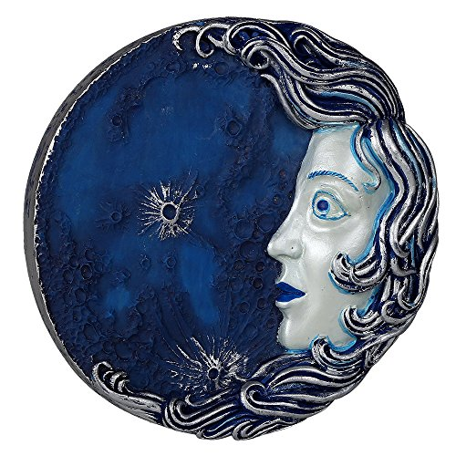 - Decorative Luna Goddess Round Wall Plaque Designed by Oberon Zell 5.75 Inches Diameter