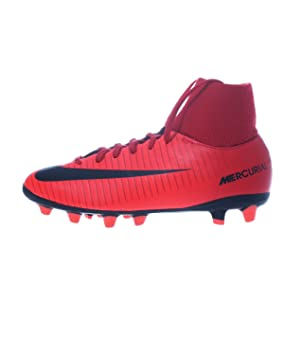 Nike BOTA DE FUTBOL MERCURIAL VICTORY 6 DF AG ROJA: Amazon.es: Deportes y aire libre
