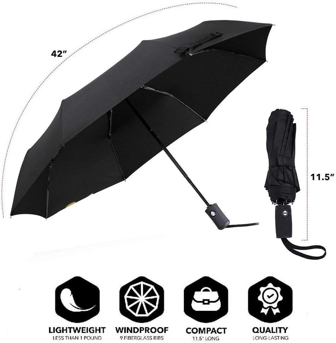 Aven-Gers G-AME Compact Auto Open Close Folding Business Umbrellas UV Protection Automatic Tri-fold Umbrella for Men and Women Lovesofun Portable Automatic Umbrella