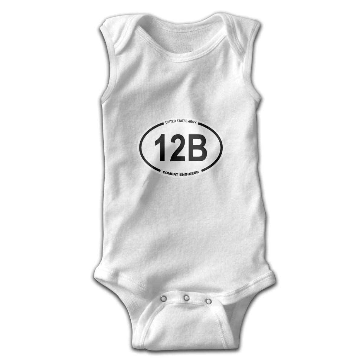 Us Army Mos 12b Combat Smalls Baby Onesie,Infant Bodysuit Black